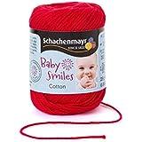 Schachenmayr 9807350–01001Baby Smiles Cotton Blanco Mano de lana, algodón, algodón, rojo, 8  x  5  x  5 cm
