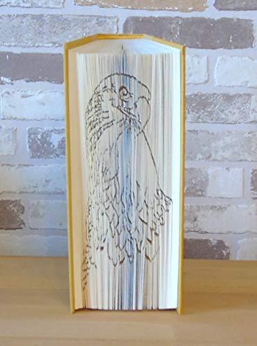 gefaltetes Buch - Adlerkopf // Buchkunst // Bookfolding // Book Art // Dekoration // Vogel // Adler // Raubvogel