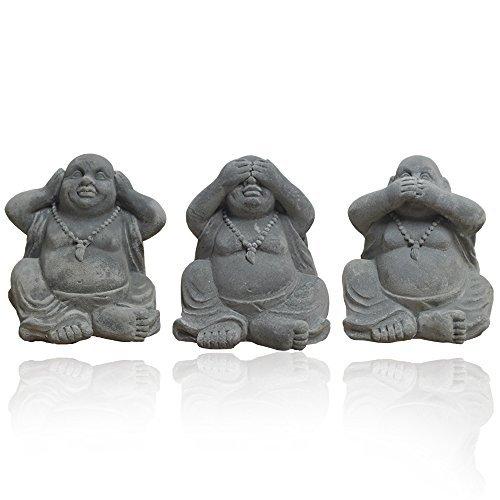 3er Set Buddha Statuen Figuren Dekoration Innendekoration