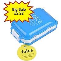 UCEC Tablettendose für 7 Tage, aus Plastik, mit 8Fächern, Extrafach für Vitamine, orange, schwarz preisvergleich bei billige-tabletten.eu