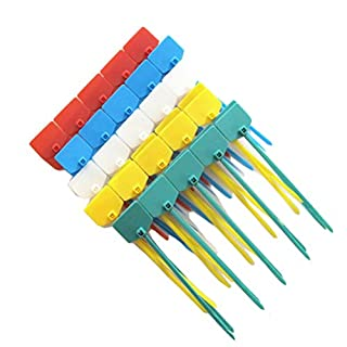 AmgateEu 100 Pcs 6 Inch Marker Nylon Cable Ties Write on Ethernet, Colorful Wire Zip Ties Cable Mark Tags Nylon Power Marking Label