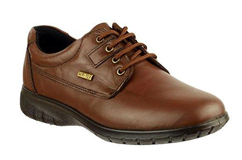 Cotswold da donna con lacci scarpe Ruscombe in pelle impermeabile Brown