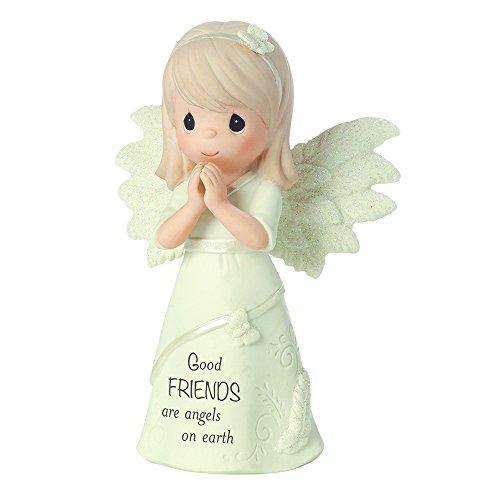 Precious Moments gute Freunde sind Engel auf der Erde, Bisque Porzellan Figur, 161063 -