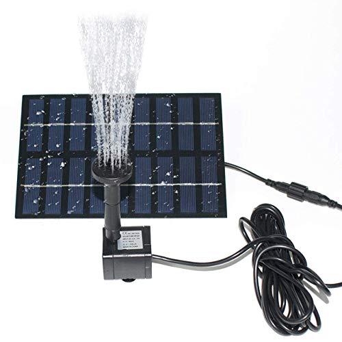 LATITOP Fuente Solar, 1.8W Bomba Flotante Sumergible de Agua Solar baño de Aves, Estanque