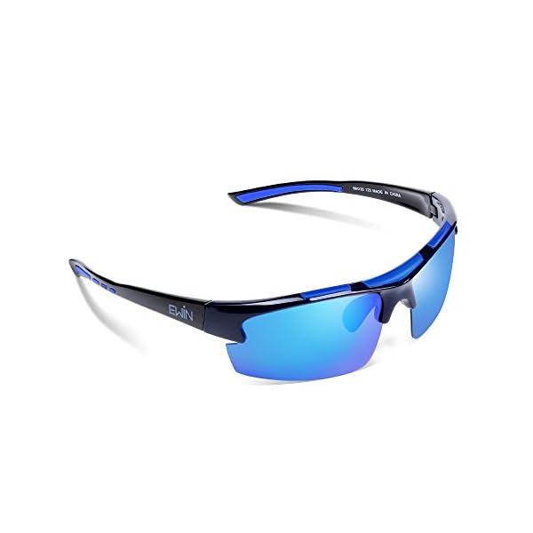 613b7838db Ewin E52 Gafas de Sol de Deporte Polarizadas, TR62 Marco Irrompible ...
