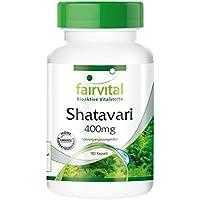 Shatavari 400 mg - 45 días - VEGANO - Alta dosificación - 180 cápsulas - Asparagus racemosus