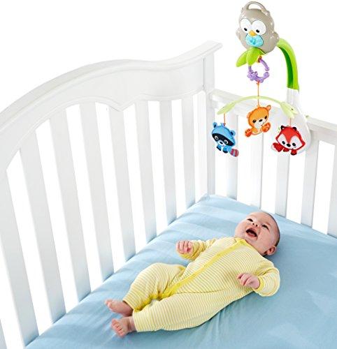 Imagen para Fisher Price Móvil musical 3 en 1, juguete y proyector de cuna para bebés recién nacidos (Mattel CDM84)