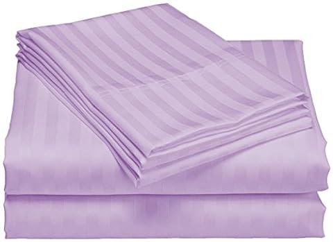 scalabedding, Taschenformat Tiefe 100% ägyptische Baumwolle 500TC 76,2cm Blatt–Königin Olympique Lavendel gestreift