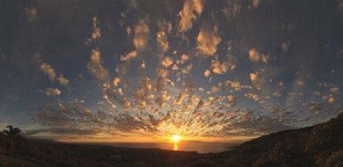 Panoramic Images - Sunset over the Pacific ocean Kealakekua Bay Kona Coast Kona Hawaii USA Photo Print (60,96 x 30,48 cm) -