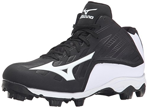 Mizuno 9 Spike ADV YTH FRHSE8 MD BK-WH Youth Molded Cleat (Little Kid/Big Kid), Black/White, 1.5 M US Little Kid