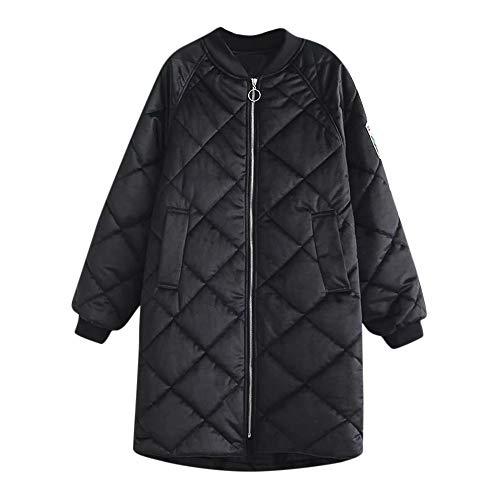 Femme Chic Blouson à Manches Longues Manteau Veste Sweat-Shirt À Capuche Mode Rétro Vintage Hiver Chaud Mode, QinMM Tops Veste en Coton épais de Grande Taille avec col Montant et Poche à Broder