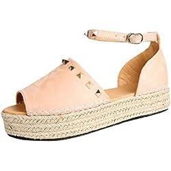 Sandalias Mujer Verano 2019 ZARLLE Zapatos de Mujer tacón Alta Pescado Boca Single Banda Tobillo Correa de Verano Sandalias Zapatos Estilo Urbano Sandalias de Fiesta