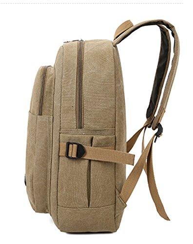 Tibes sac a dos pour ordinateur portable cru unisexe grand sac a dos en toile pour l'ecole Vert