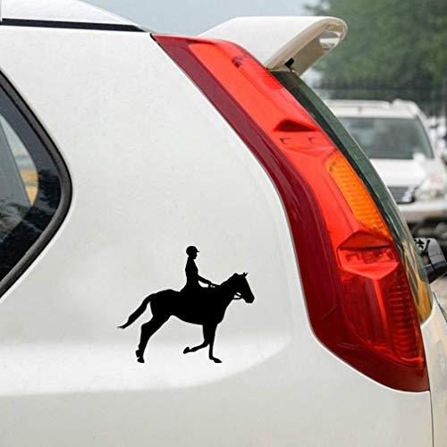 auto aufkleber auto aufkleber 13.8x11.7Cm Interessantes Reitsport-Dekor-Auto-Aufkleberzubehör für Auto-Laptop-Fenster-Aufkleber