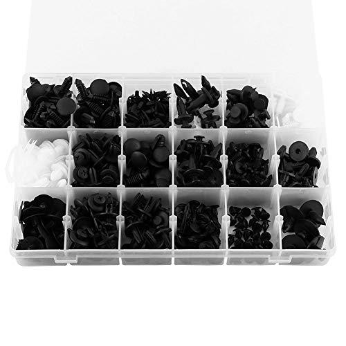 415pcs Remaches Plásticos para Coche Remaches Parachoques Cierre de Plástico de Panel de Retenedor