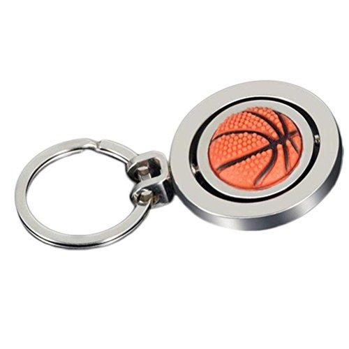 Drawihi Schlüsselring Basketball Schlüsselanhänger Doppelseitige Rotation Schlüsselanhänger Rucksack Ornamente Nette Anhänger Dekoration