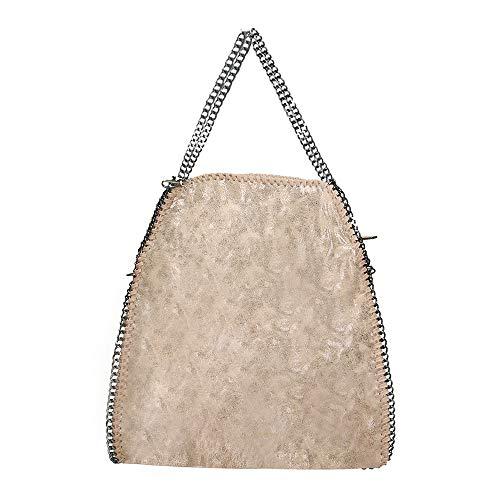 f0835ed6c995ce Anush Borsa donna grande borsa con catena tracolla regolabile in pelle  sintetica 40x42x10 cm ...