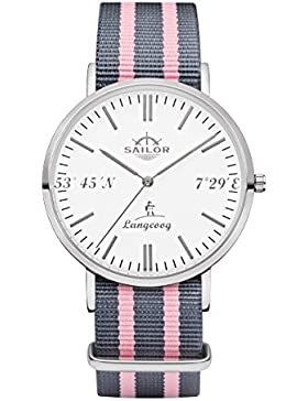 Sailor Uhr Limited Edition Langeoog, Model: Langeoog in silber/weiß mit verschiedenen Armbändern   Quarzuhr mit...