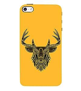 Indian Deer Graphics 3D Hard Polycarbonate Designer Back Case Cover for Apple iPhone 5S