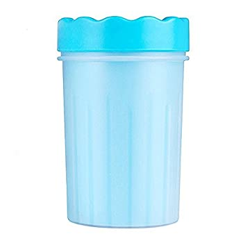 HJHY Nettoyeur de patte de chien portable Laveur de patte de chien intelligent - Idéal pour les chiens actifs ou les jours de pluie (M bleu)