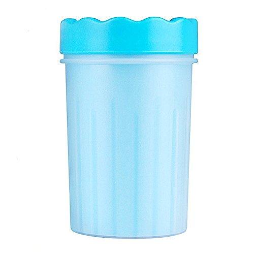 HJHY Pet lavatrice Rondella per cani portatile Cleaner Dog Rondella-Ideale per cani attivi o giorni di pioggia (M Blue)