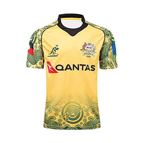 DDZY Rugby Kleidung, 2017 Australian Commemorative Edition Sommersport atmungs lässiges T-Shirt-Fußballhemd Polohemd,XL