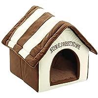JJLL Wicemoon cálido caseta de Mascota Cachorro casa de Peluche Perro Gato Cama Mascota casa Interior