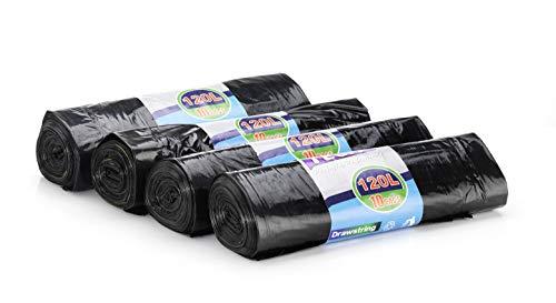 40 piezas Bolsa basura / bolsa basura - 120 l abertura