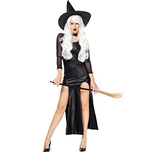 TIANFUSW Herrin Hexenkostüm Hexe Sexy Halloween Kostüm für Frauen, A