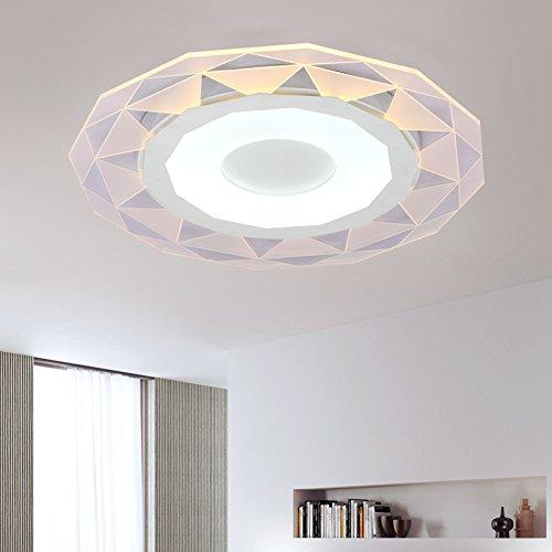Thin rotondo acrilico traslucido lampada camera da letto del soffitto moderno minimalista luci ristorante corridoio luci lampada balcone potere 29-54w , inside warm white