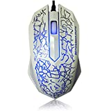 Filaire Lumières Optiques USB PC Ordinateur Portable Jeux Joueur Gaming Souris Gaming Mouse - Blanc