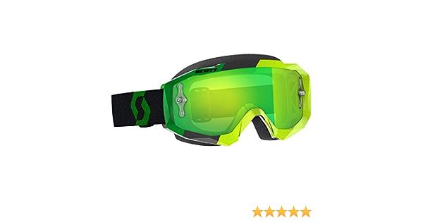 Scott Goggle Hustle Mx Yellow Green Lente Grn Chro Wks Auto