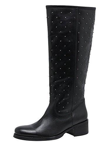 Stiefel von BC aus Nappaleder Schwarz