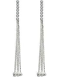 Shining Diva Fashion 18k Gold Plated AAA Diamonds Stylish Earrings For Women & Girls