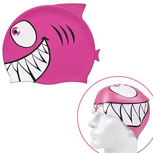 8afbb8a42ce8 Grenhaven cuffia da piscina bambino squalo 100% silicone berretto piscina  in vari colori