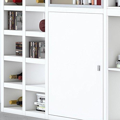 Wohnwand Bücherregal Vitrinenschrank TOLEO238 weiß lackiert - 2