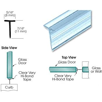 Crl Translucent Shower Door Vinyl T Seal And Sweep For
