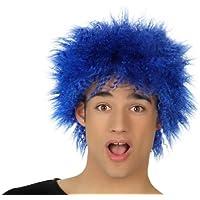Atosa-16614 Peluca Punky, Color Azul, ...