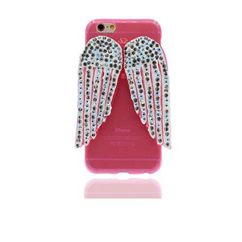 """Étui pour iPhone 7 plus, Slim (TPU Silicone Transparent Flexible) avec Petits Diamants Cristallins Retour coque pour iPhone 7 plus 5.5"""" ailes ,iPhone 7 plus case color 4"""