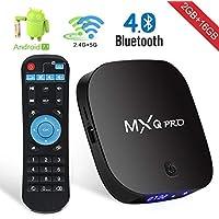 Android TV Box [2018 Dernière Version] SUPERPOW MXQ Pro Android 7.1 TV Box de [2GB RAM+16GB ROM] et Dual-WiFi 2.4/5.8GHz Smart Boitier Tv avec BT 4.0 / HD/H.265 / 4K / 3D