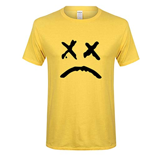 Imprimen Camiseta Hombre,JiaMeng Casual Printing O-Cuello Manga Corta algodón Camiseta Camiseta de Manga Larga con Estampado