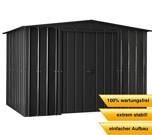 CLEMENS HOBBY TEC Stahlgerätehaus Globel Industries, BxT: 245x183 cm anthrazit