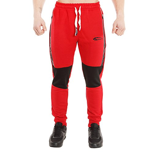 SMILODOX -  Pantaloni sportivi  - Uomo Rot