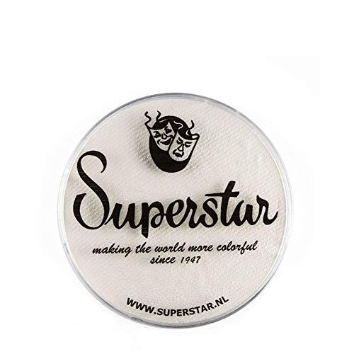 Unbekannt Superstar Gesicht Paint - Skull White 022, hypoallergen, Glutenfrei & Cruelty Free - Kinderfreundlich, ideal für Messen, Karneval, Party & Halloween-Malerei (16 g)
