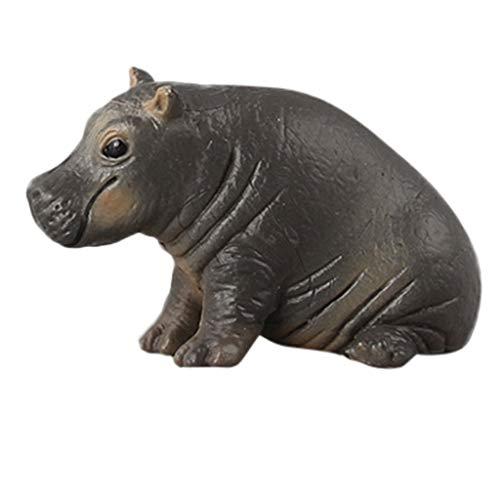 Tierbausteine Lernspielzeug,Jaerio Erziehungswissenschaft Flusspferd Tier Modell Ornament Figur Spielzeug für Kinder Geschenk