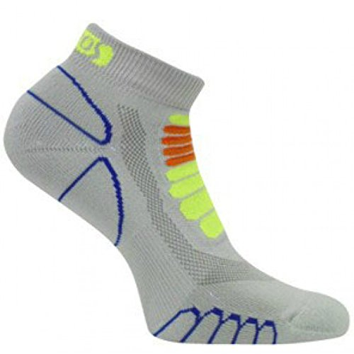 eurosocks 6309Sprint silber Low Cut Leichtes Running socks-pair, damen Herren Mädchen Jungen unisex, grau, S (Mädchen Sport Sock Low Cut)