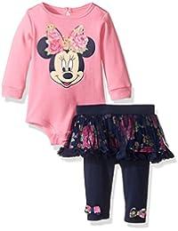 Disney Baby Girls 2-Piece Minnie Mouse Skegging Chiffon Set