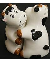 Umarmende Kühe Salz Und Pfeffer Streuer