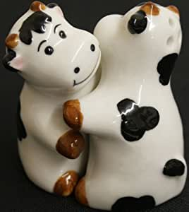 Hugging Cows Salt And Pepper Shakers