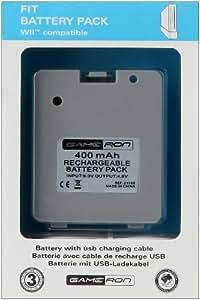 Pack Fit Battery - Batterie pour balance board avec câble USB de recharge pour Wii balance board